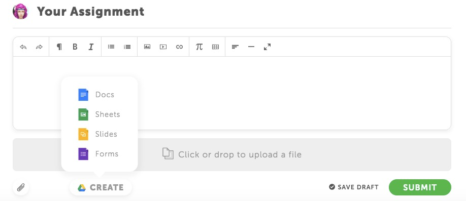 Google assignement document type