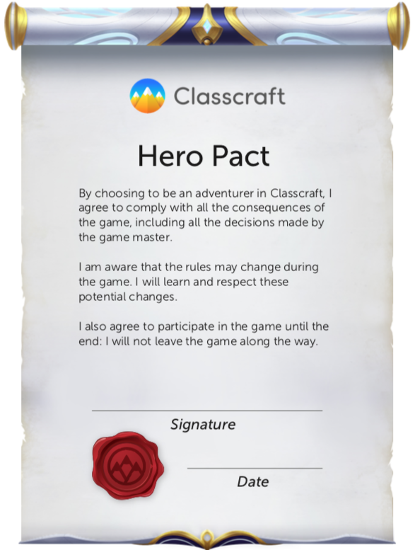 Classcraft Hero Pact
